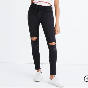 """Madewell 9"""" High Rise Skinny Jeans In Faded Black"""